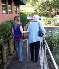 Caregiver with Woman Care Recipient